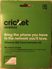 Cricket Wireless Universal Sim Card Activation Kit