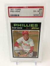 1971 TOPPS FRED WENZ #92 EX-MT+ PSA 6.5 PHILLIES