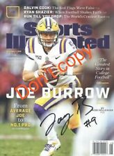 JOE BURROW SIGNED SPORTS ILLUSTRATED 8X10 photo reprint LSU TIGERS