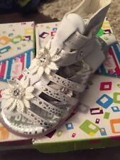 New Easy Girl Toddler Sandals White Size 7