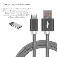 USB C to USB 2.0 Cable |1m Short | Nylon Braid Fast Charge Space Grey Aluminium