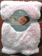 Adirondack Baby Girls Warm & Fluffy Blanket Lightweight Long Plush 30x40 Lt Pink