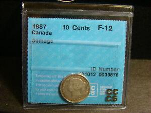 Canada 1887 Ten Cents *Graded F-12*