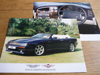 """ASTON MARTIN V8 VOLANTE PRESS OR PUBLICITY PHOTOS  """" BROCHURE """" . jm"""