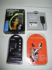 Lot of 4 ~ 3 In 1 Phone Charger & Homemicro Usb Charger & 2 Stereo Headsets