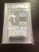 2011 Limited Cam Newton Draft Day Rookie Patch Auto 10/10 1/1 Bgs 9 10 Patriots
