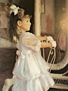 Young Olivia By Allan R Banks Vintage  Measures 36.5 x 46.5 Excluding Border