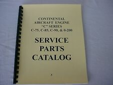 CONTINENTAL ENGINES  C75 C85 C90 0-200 PARTS MANUAL -3