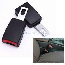 2Pcs Black Universal Car Safety Seat Belt Buckle Extension Clip Alarm Stopper