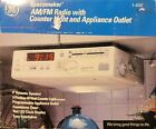 GE Spacemaker AM/FM Radio with Counter Light and Appliance Outlet 7-4232 NOS NEW photo