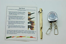 Solid Brass Handmade Knot Tying Tool with instructions+ Double Zinger, Fly Tying