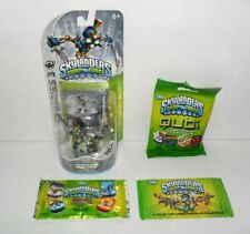 SKYLANDERS SWAP FORCE TWIN BLADE CHOP CHOP & DOG TAG COLLECTOR CARDS & QUBI LOT