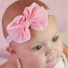 10Pcs Cute Kids Baby Chiffon Toddler Flower Bow Headband Girl Hair Band Headwear