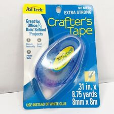 """New listing Crafter's Tape Permanent Glue Runner-.31""""x8.75 Yards"""
