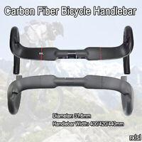 RXL SL Carbon Handlebar Road Bike 31.8mm 3K/UD Matte Cycling Bent Bar