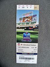 MINNESOTA TWINS 2010 Target Field Inaugural Ticket Stub 4-20 Cleveland Indians