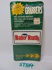 1970'S EMBROIDERED PATCH GRABBERS STICK ON-HIPPIE BABY RUTH CANDY BAR RARE