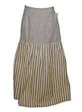 New Skirt, Tommy Hilfiger, 100%-Cotton Long Light-Wt Blue-Yellow MSRP-60.00  8