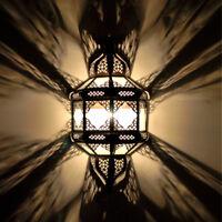Oriental Applique Murale Lampe Marocaine Abat-Jour Tulum Blanc