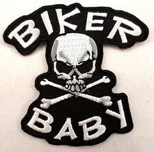 Biker Baby Skull And Crossbones Motorcycle Uniform Patch