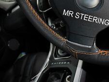 Para Nissan Skyline R32 89-94 Cubierta del Volante Cuero Verdadero Naranja Doble STT