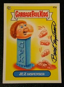 Garbage pail kids card AUTOGRAPHED by (BRENT ENGSTROM) see description