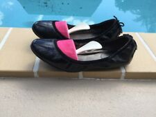 MARIA SHARAPOVA by COLE HAAN BLACK PATENT LEATHER CASUAL FLATS Sz 7.5B