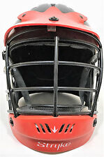 Stryke Lacrosse Helmet Black with Red Adult S/M