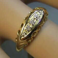 18ct gold second hand five stone victorian cut diamond  ring