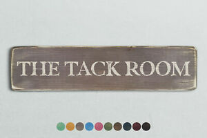 THE TACK ROOM Vintage Style Wooden Sign. Shabby Chic Retro Home Gift