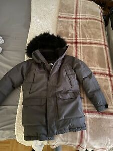 Pre-owned The North Face Boys McMurdo Grey Down Parka Jacket, Size M (10-12)