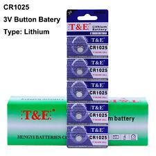 5pcs 1025 Li Coin Button Cell Battery 3V CR1025 BR1025 DL1025 KL1025
