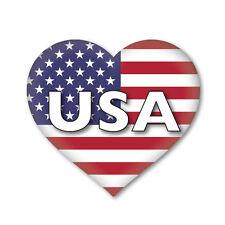 2 x USA/AMERICAN Heart Flag, car, van decal sticker