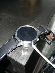 Huawei Watch 42mm Stainless Steel Case Black Leather Bracelet