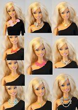 Lot 10 pcs Mattel Barbie FR Vintage Plastic Necklace for 1/6 12 inch Doll DA103