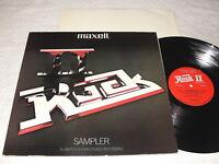 """Rock II - Sampler"" 1980 Rock LP, Nice EX!, Various Artists, Test Record-Maxell"