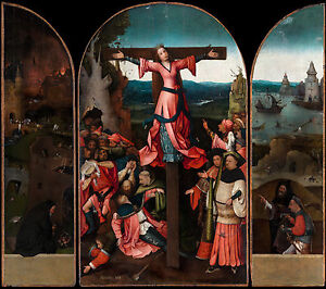 Hieronymus Bosch - The Crucifixion of St Julia, Christian Poster, Canvas Print