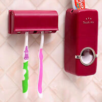 Bathroom Automatic Toothpaste Dispenser Toothbrush Holder Stand Wall Mounted