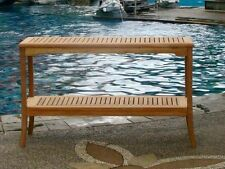 "59"" CONSOLE TABLE A GRD TEAKWOOD GARDEN OUTDOOR DINING FURNITURE POOL PATIO GIVA"