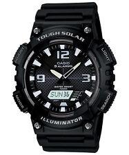Mens Solar Powered Casio AQ-S810W-1A Black Stopwatch Resin Watch AQ-S810W-1A2VEF