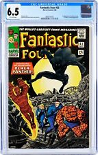 Fantastic Four #52  |  CGC 6.5  |  OW pages |  1st Black Panther | MCU Movies |