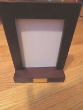 Morton'S the Steakhouse rare Nos wooden placard holder/picture frame