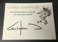 Chris Hadfield Signed Book Plate NASA Canadian Astronaut Autograph