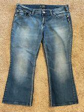 Silver Jeans Plus Sz 20x26 *Suki Surplus* Distressed Wash Flap pockets!!
