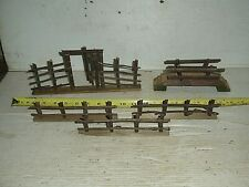 VINTAGE Train Village Building Fence & Bridge HandMade Wood Standard & G Gauge