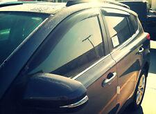 Ford Focus 2012 - 2014 Tape-on Wind Deflectors Vent Visor Shade Smoke Rain Guard
