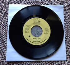 "DAVID STARR / SHAKE A HAND - 7"" (printed in US 1971) PROMO"