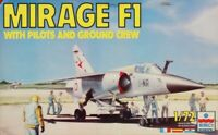 ESCI 1:72 Mirage F1 w/ Pilots Ground Crew Plastic Aircraft Model Kit #9081U1