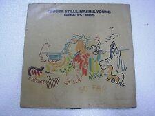 CROSBY STILLS NASH & YOUNG  SO FAR   RARE LP RECORD vinyl  INDIA INDIAN VG+