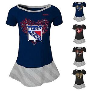 Reebok Girls Official NHL Foil Accent Team Hockey Dress Sizes 4 5/6 6X NWT $38